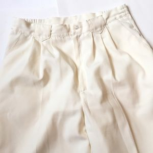 "Vintage high waisted trousers 29"" cream"